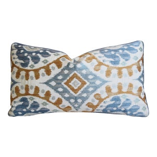 """French Manuel Canovas Bella Feather/Down Silk Pillow 25"""" X 14"""" For Sale"""