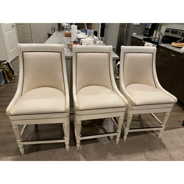 Frontgate Swivel Counter Barstools - Set of 3 For Sale - Image 11 of 11