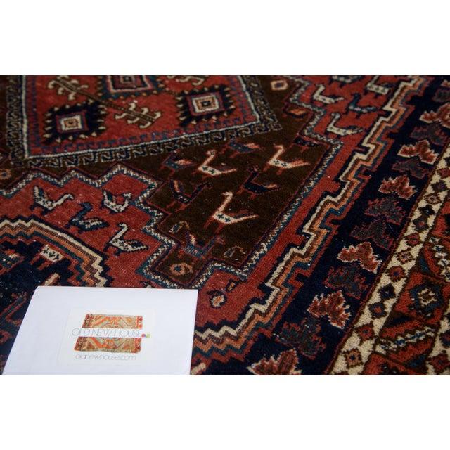 "Vintage Persian Afshar Rug - 3'6"" X 4'8"" - Image 8 of 8"