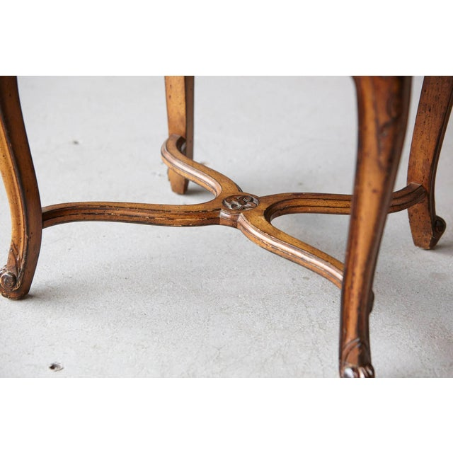19th Century Louis XV Style Caned High Back Wood Chaise For Sale - Image 9 of 11