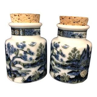 Vintage Asian Spice Jars