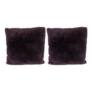 Custom Handmade Pillows in Luxe Smoked Amethyst Loro Piana Cashmere For Sale