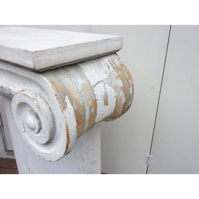Early 20th Century Column Pedestal Consoles - A Pair For Sale - Image 5 of 6