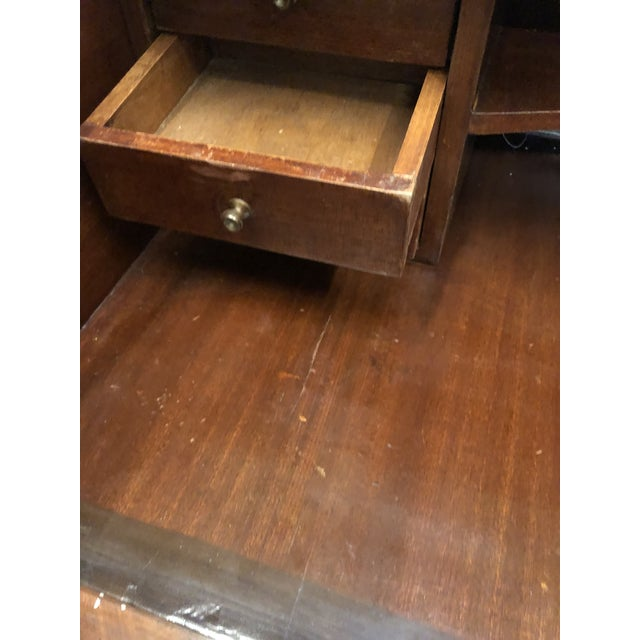 Wood Roll Top Writing Desk For Sale - Image 7 of 10