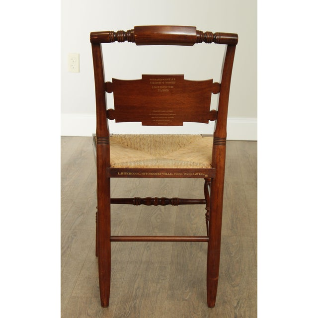 "1970s Hitchcock Norman Rockwell ""Freedom of Worship"" Limited Edition Side Chair For Sale - Image 5 of 13"