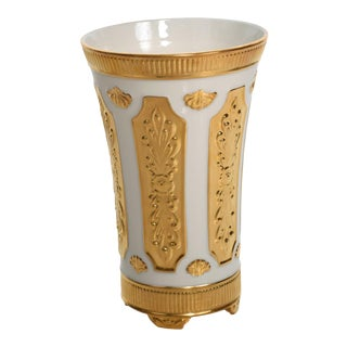 Mid Century Modern Lenox Designer's Collection Versailles Gold Vase For Sale