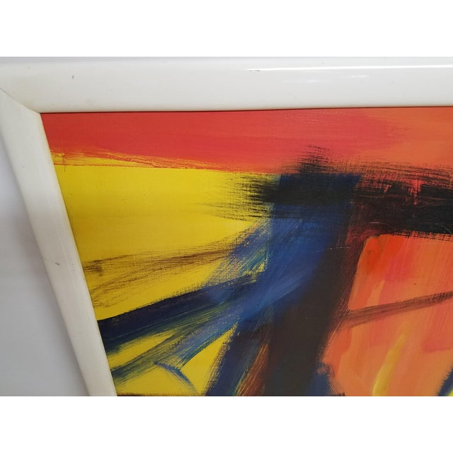 Large Colorful Abstract Oil Painting By George Shelly