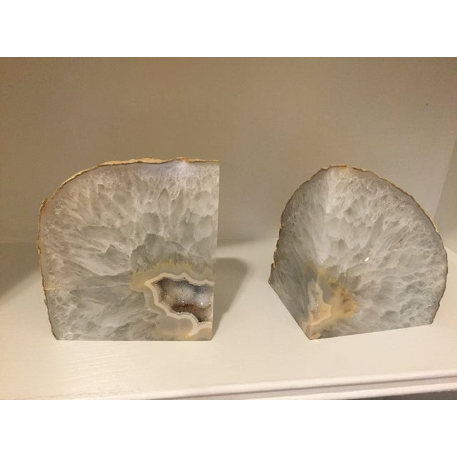 Large Agate Bookends - A Pair - Image 2 of 6