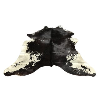 Contemporary Black and White Cowhide Rug