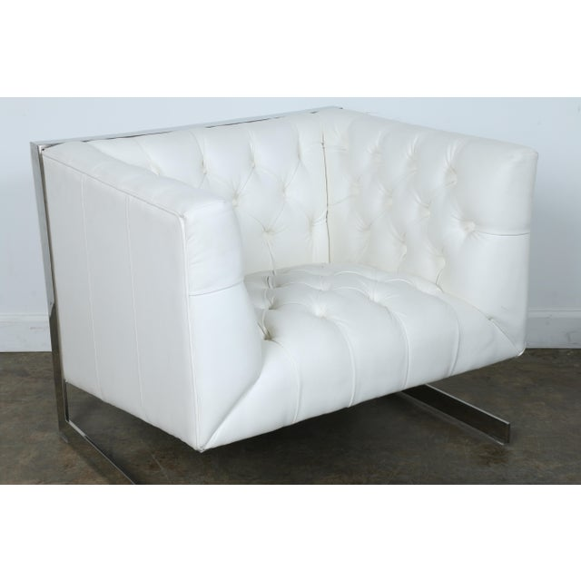 Modern Chesterfield Tufted Chair - Image 9 of 11