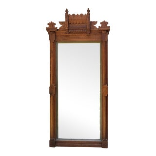Eastlake Victorian Antique Wood Mirror For Sale
