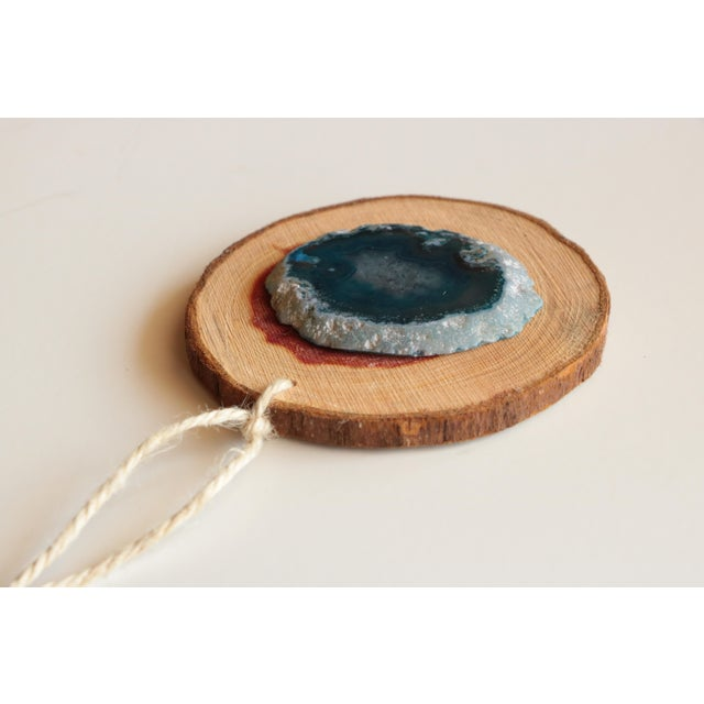 Agate and Cedar Slice Christmas Ornaments - Set of 6 - Image 8 of 8