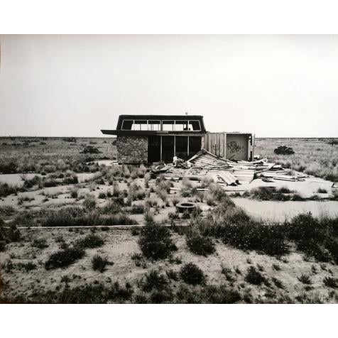 """Contemporary """"Dead Gas Station"""" Black & White Photograph For Sale - Image 3 of 3"""