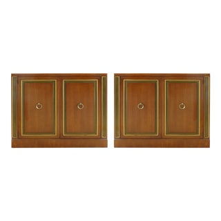 1950s Mid-Century Modern Dorothy Draper for Heritage Furniture Cabinets - a Pair For Sale