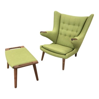 Papa Bear Chair & Ottoman For Sale