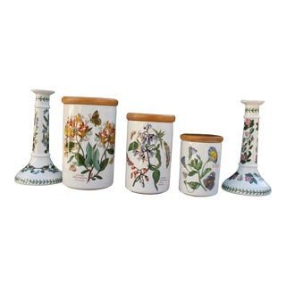 Portmeirion Botanic Jars & Candle Holders - Set of 5