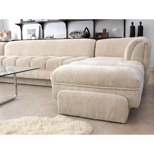 Vladimir Kagan Attributed Directional Sectional Sofa For Sale - Image 10 of 13