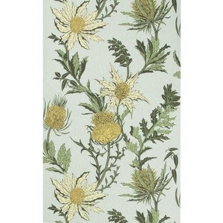 Cole & Son Thistle Wallpaper Roll - Lemon/Olive/D Egg For Sale