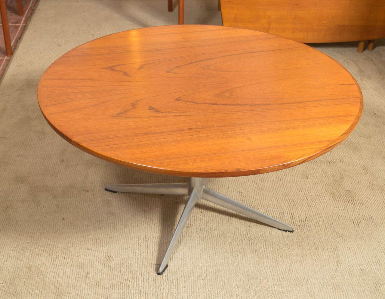 HW Klein For Bramin Round Teak Coffee Table   Image 4 Of 7