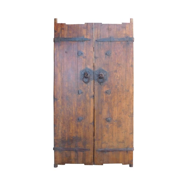 Vintage Iron Hardware Door Gate Wall Panel For Sale