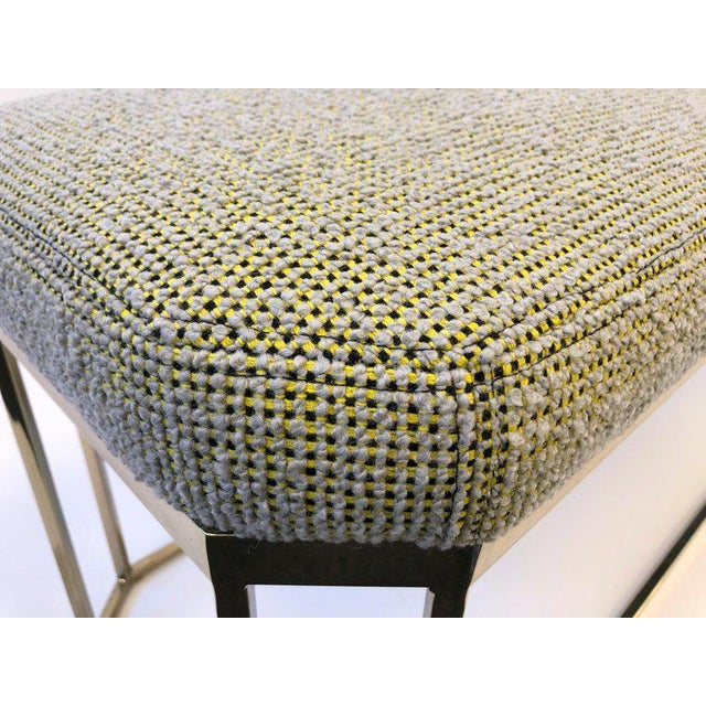 Hexagonal Shape Brass Bench by Milo Baughman For Sale - Image 11 of 12