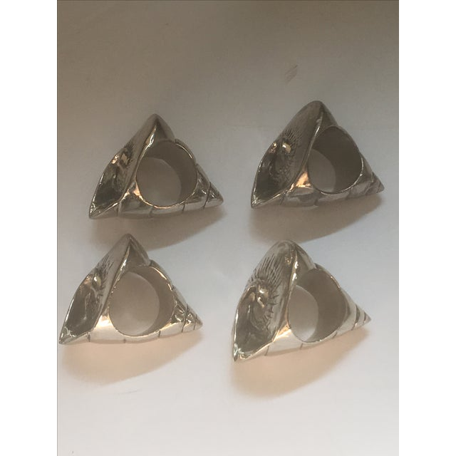 Silver Seashell Napkin Rings - Set of 4 - Image 5 of 7
