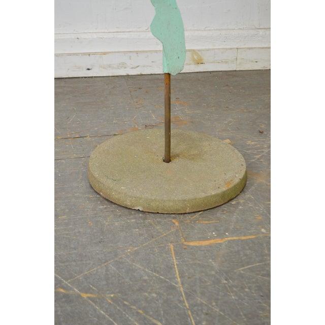 Mid Century Modern Large Dancing Ballerina Metal Garden Sculpture (B) For Sale - Image 10 of 11