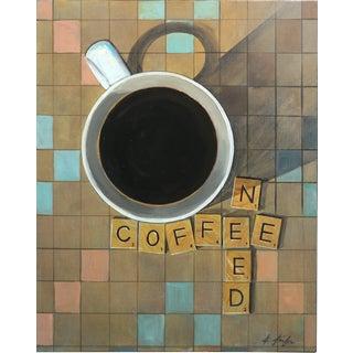 """Black Coffee"" Original Acrylic Painting by Kathleen Keifer For Sale"