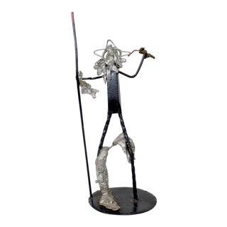 Abstract Brutalist Scrap Metal Sculpture For Sale