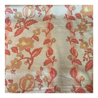 La Grenade Hand Print Coral by Bailey & Griffin Fabric - 5 Yards For Sale