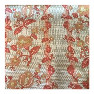 La Grenade Hand Print Coral by Bailey & Griffin Fabric