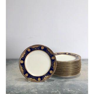 Minton Blue & Gilt Plates, England Circa 1880 - Set of 16 Preview