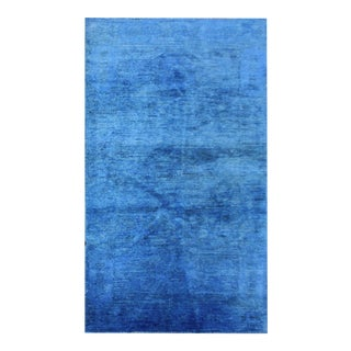 """Hand Knotted Over Dyed Oushak Rug by Aara Rugs Inc. - 3'1"""" X 5'7"""" For Sale"""