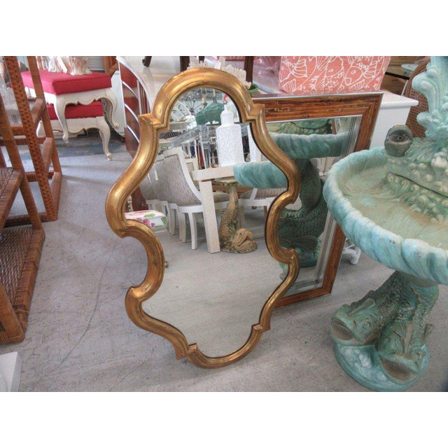 Free Form Hollywood Regency Mirror - Image 5 of 5