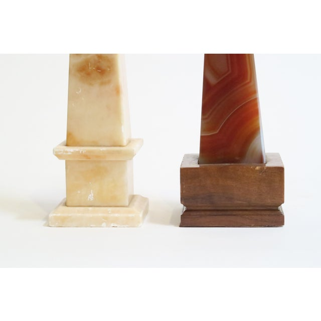 Marbled Stone Obelisks- A Pair - Image 4 of 5