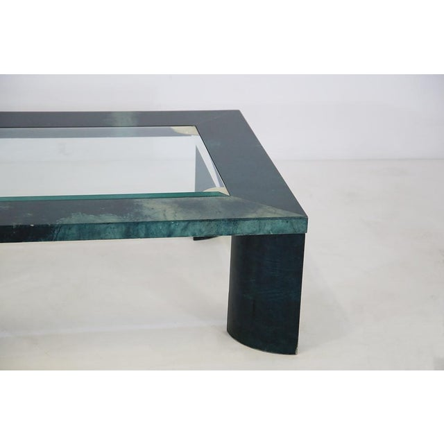 Aldo Tura Green Aldo Tura Living Room Coffee Table From 1960 For Sale - Image 4 of 5