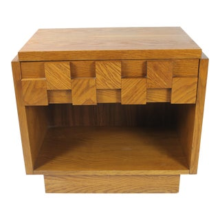 1960s Brutalist Lane Furniture Nightstand For Sale