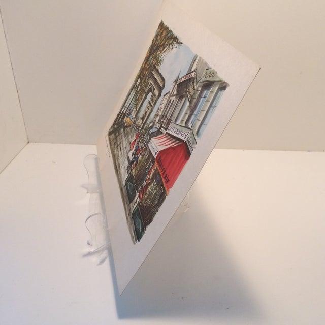 """Vintage Paris 1950's Litho """"Champs Elysees Arc de Triompe"""" by Ducollet - Image 3 of 11"""