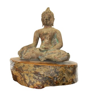 Late Ming 17th Century Bronze Buddha Sculpture For Sale