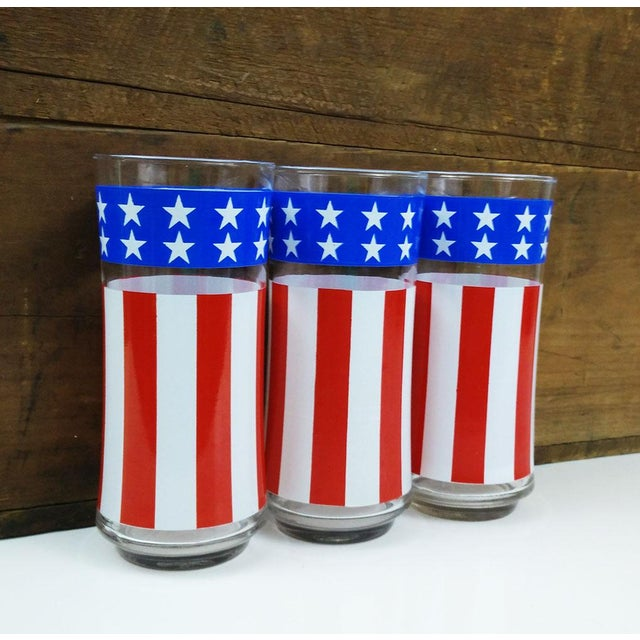 Vintage Libbey American Flag Glasses - Set of 3 - Image 4 of 6