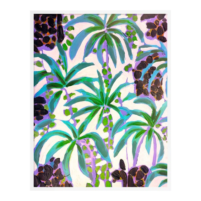 Island House 4 by Lulu DK in White Framed Paper, Large Art Print For Sale