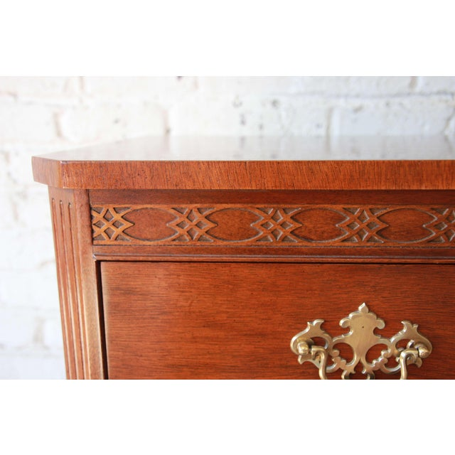 Baker Furniture Chippendale Style Mahogany Seven-Drawer Long Dresser For Sale - Image 10 of 12