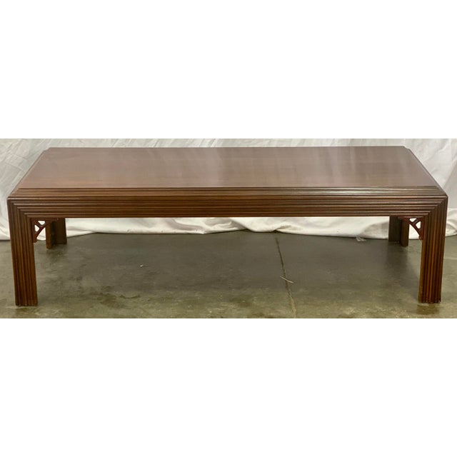 Coffee Vintage Mahogany Lane Altavista Chippendale Coffee Table For Sale - Image 8 of 9