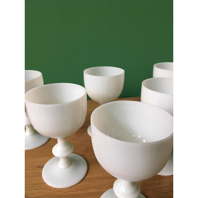 1900s French Portieux Vallerysthal White Wine Glasses - Set of 6 For Sale - Image 5 of 7