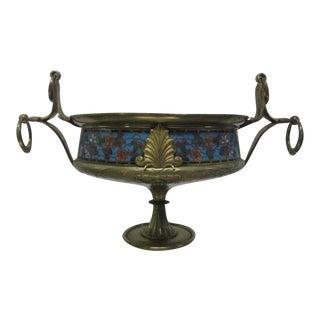 Bronze Cloisonne Centerpiece Bowl For Sale