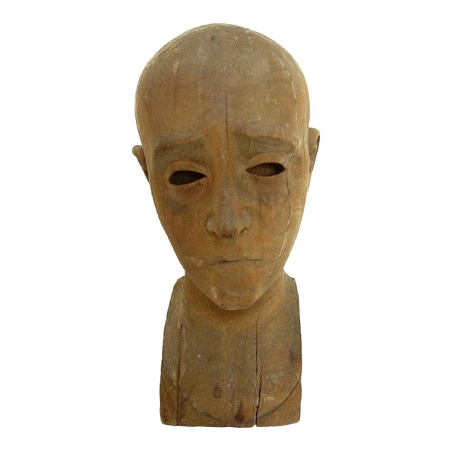 Antique Hand Carved Head - Image 1 of 6