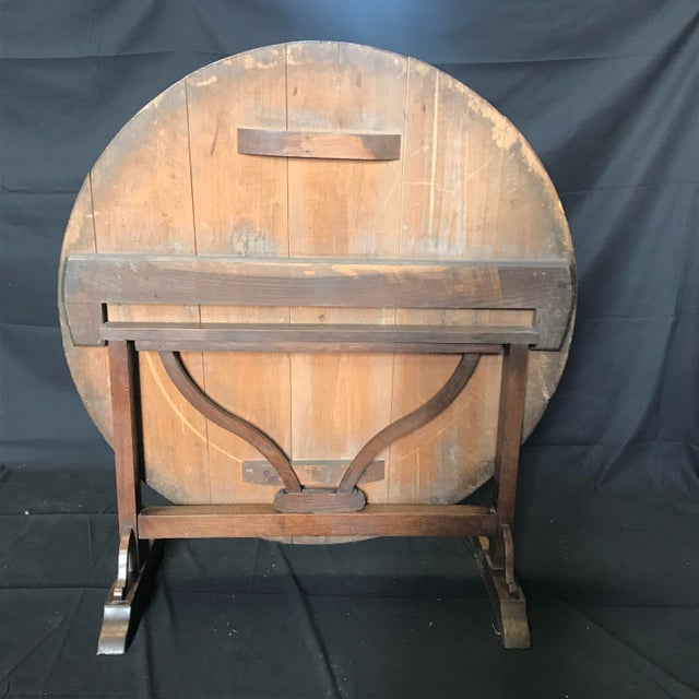 French 19th Century Large Antique French Wine Tasting Table For Sale - Image 3 of 5