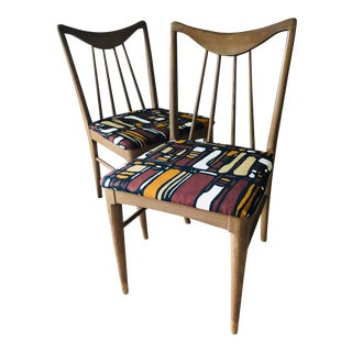 Mid Century Danish Mod Dining Chairs, Pair For Sale