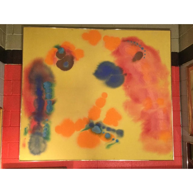 """1970s Vintage Victoria Barr """"Flare"""" Painting For Sale In New York - Image 6 of 6"""