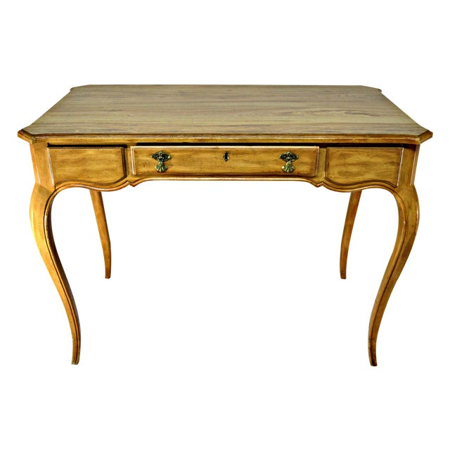 French-Style Cabriole Leg Writing Desk For Sale